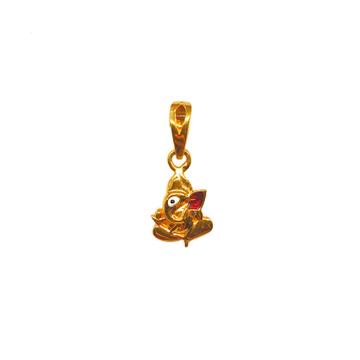 22K Gold Ganesh Pendant MGA - PDG0234