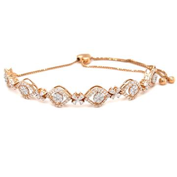 Egyedi diamond tennis bracelet in 18k hallmark ros...