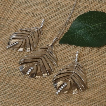 92.5 Italian Silver Leaf Design Set