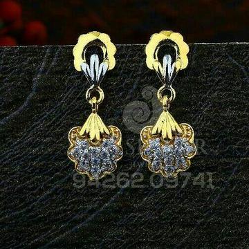 18kt Fancy Cz Gold Ladies Tops ATG -0739