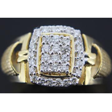 18k Diamond gents ring gk-r08