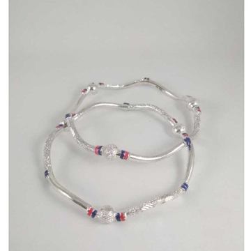 Silver Fancy  Bangles. NJ-B01057
