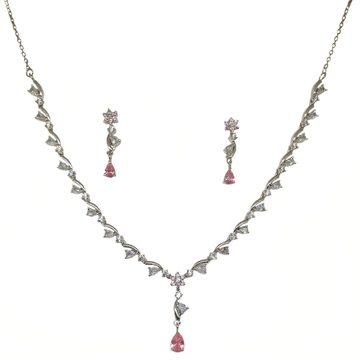 925 Sterling Silver Designer Necklace Set MGA - NKS0104