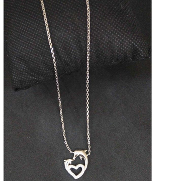 925 Sterling Silver  Heart Dolphin Designed Pendan... by