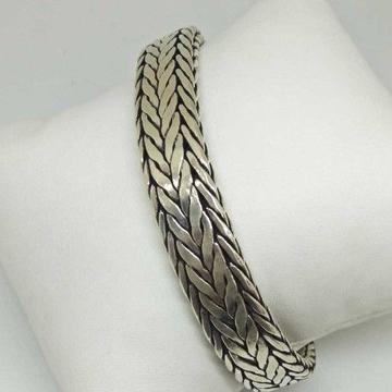 925 Sterling Silver Oxides Designed Gents Bracelet