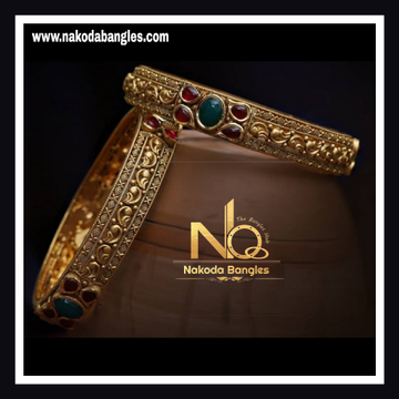 916 Gold Antique Bangles NB - 734