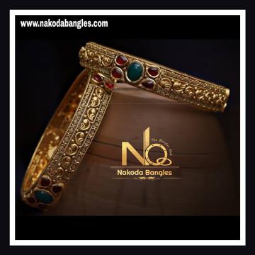 916 Gold Antique Bangles NB - 734