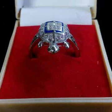 925 Silver Tortoise Gents Ring