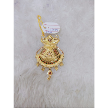 916 Gold Indian Design Pendant MJ-P001 by