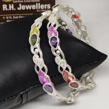 silver ladies bangles RH-BL671