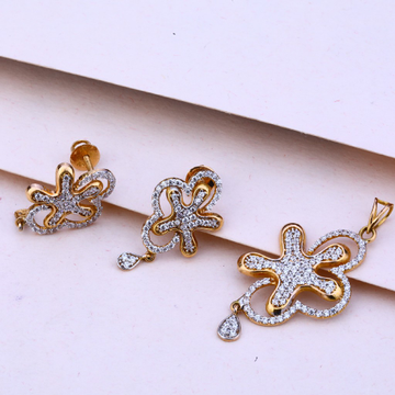 750 Rose Gold Hallmark Women's Pendant Set RPS95