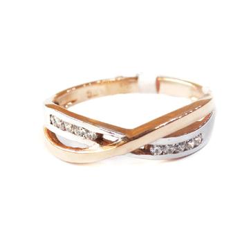 18k rose gold fancy ring mga - rgr005
