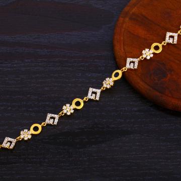 916 Gold Ladies CZ Delicate Bracelet LB374