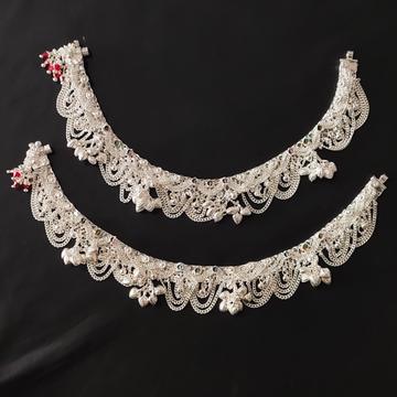 Silver Fancy Payal by