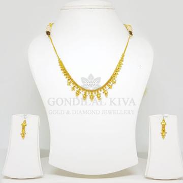 22kt gold necklace set gnh17 - gft hm24 by