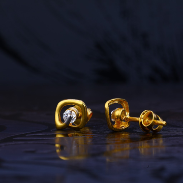 916 Solitare Gold Earring LSE94