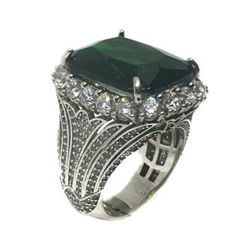 925 Sterling Silver Feroza Colour Stone Ring MGA - LRS0077