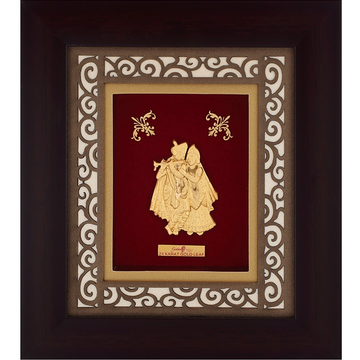 916 Gold Radha Krishna Photo Frame AJ-16