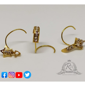 18 carat gold nose pins RH-NS207