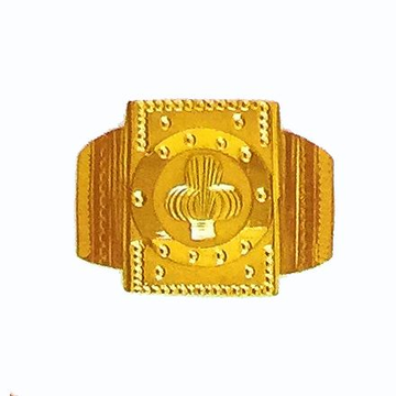 Indian fancy wedding band for men in 916 yellow gold