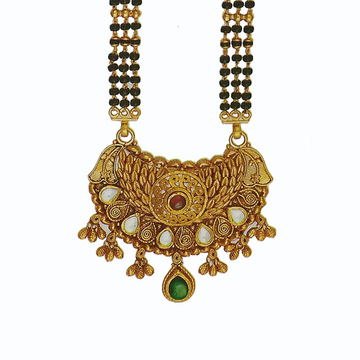 22kt Yellow Gold Fancy Tanmaniya With Beads by