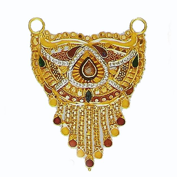 22kt Gold Tanmaniya Culcatti Pendant with enamel by