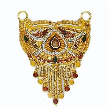 22kt Gold Tanmaniya Culcatti Pendant with enamel