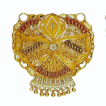 22kt Yellow Gold Fancy Tanmaniya Pendant by
