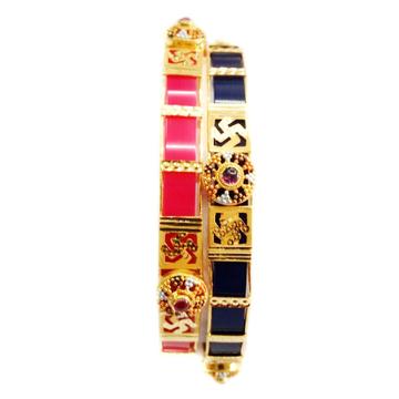 22k gold multiple colours changeable kada bangles mga - gp049