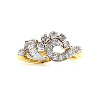18kt / 750 Yellow Gold Traditional Diamond Ladies Ring 9LR183