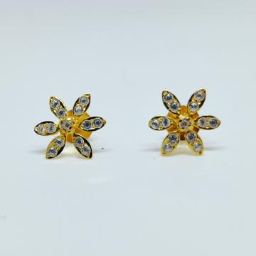 18 KT 750 Hallmark fancy delicate flower shape Lad... by Harekrishna Gold