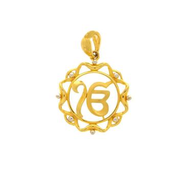 Ek onkar gold pendant