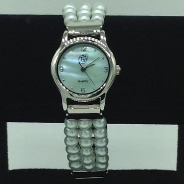 Freshwater Green Round Pearls 3 Layers Watch JBG0223