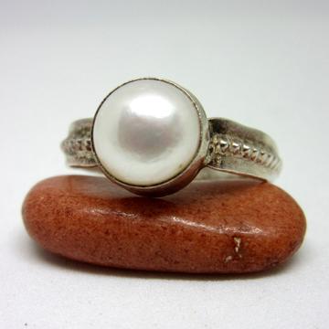 Silver 925 pearl unisex ring sr925-212