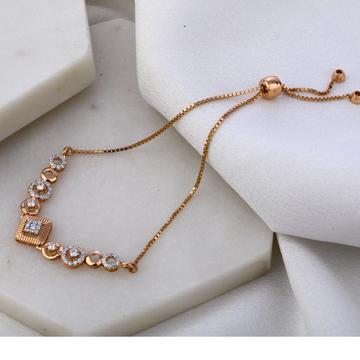 750 Rose Gold Hallmark Delicate Ladies Bracelet RL...