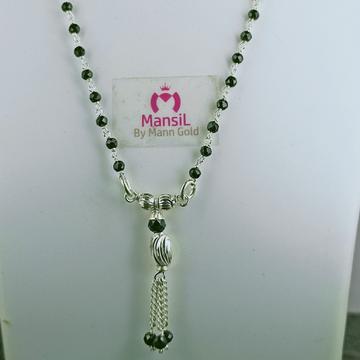 silver 92.5 black Beads fancy Mangalsutra