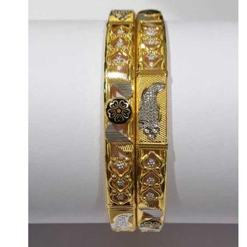 22KT Gold Flower Designer Fancy Copper Kadli by