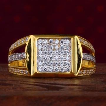 916 Gold Diamond Gents CZ Ring