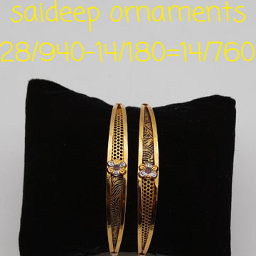 22 kt design copper bangle light weights by Saideep Jewels