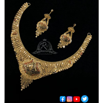 22 carat gold classical necklace set RH-NS263