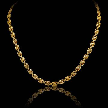 22Kt Gold Hallmark Chain For Men by S B ZAWERI