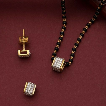 22KT/ 916 Gold fancy casual ware square mangalsutr... by