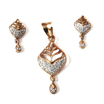 18k rose gold pendant set mga - rps007