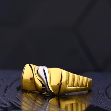 22kt gold hallmark  Fancy gentlemen's plain ring MR745