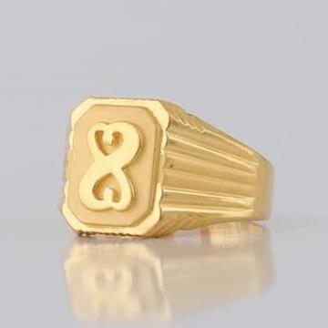 22 Carat gold gents fency ring RH_vt106