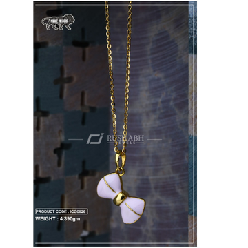 18 carat gold Kids chain pendent icg0026 by