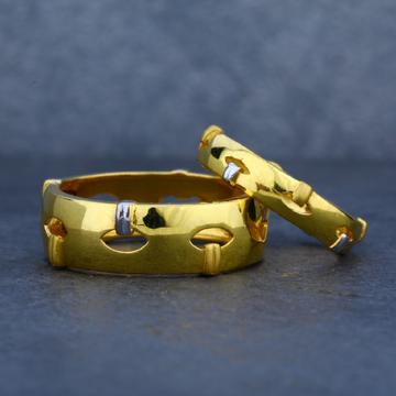 Designer 22ct Plain Gold Engagement Couple Band-CR06