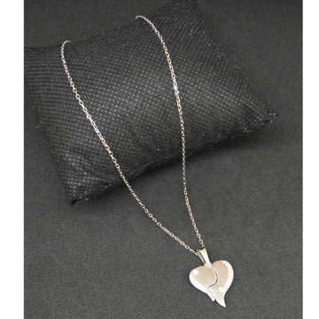 925 Sterling Silver Heart Designed Pendant Chain by