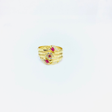 BRANDED FANCY PINK STONE RING by