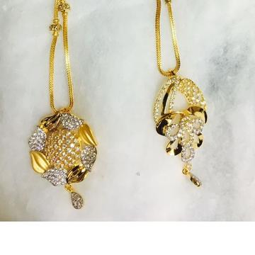 916 gold cz chain pendant set cps-0005